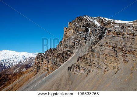 Mountain Peak N Thorong La Pass
