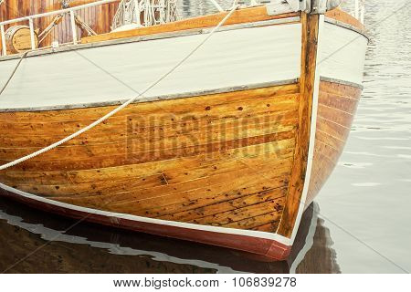 texture of wooden boat