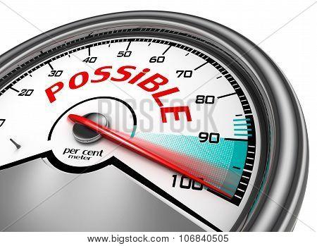 Possible Conceptual Meter Indicate Hundred Per Cent