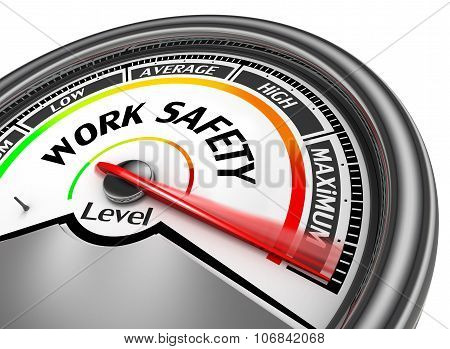 Work Safety Level Conceptual Meter Indicate Maximum
