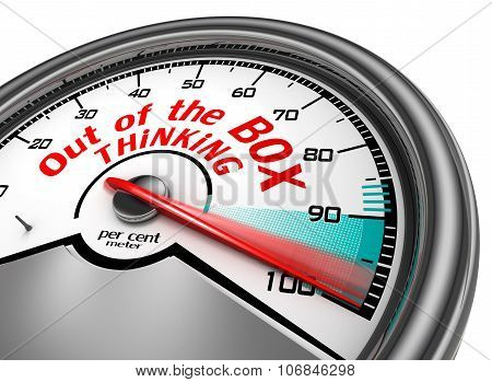 Think Out Of The Box To Hundred Per Cent Conceptual Meter