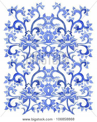 Floral chinese ornamental repeating pattern