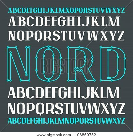 Set Of Uppercase Contrast Font