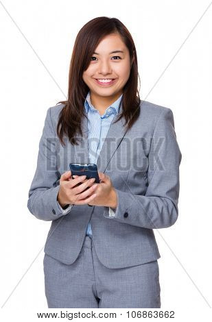 Aisan Young Businesswoman use of the cellphone