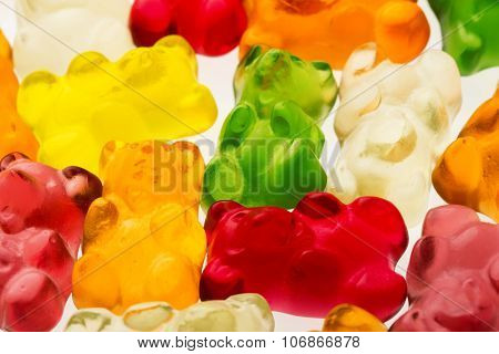 Jelly Bears Candies Background