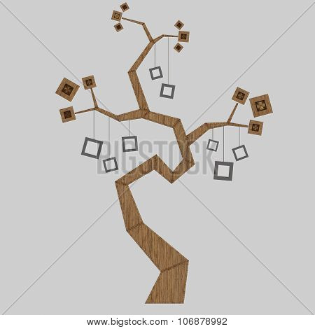 3D Render Of A Family Tree