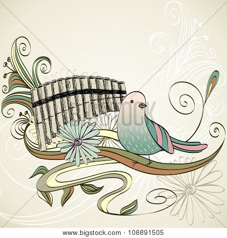 Vector Sketch Panpipe