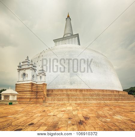 Ruwanwelisaya dagoba in the sacred world heritage city of Anuradhapura, Sri Lanka