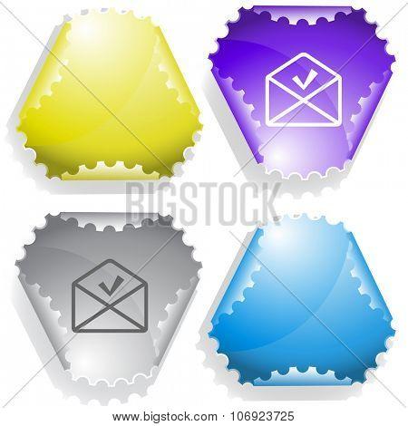 mail ok. Raster sticker.
