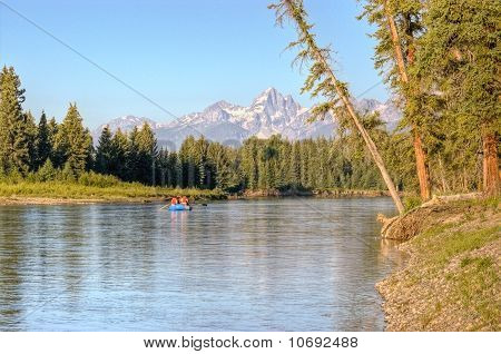 Rafting On Snake River In Grand Tetons National Park
