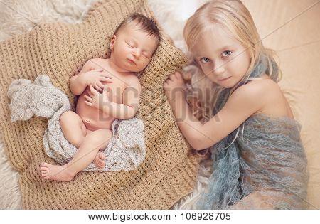 Healthy Newborn Baby Sleeping