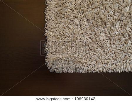 Beige Shaggy Carpet On Wenge Floor