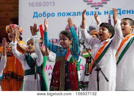 Kids Of Center Of India Folk Art Sing A Song