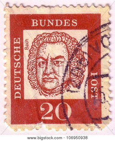 Germany - Circa 1961: A Stamp Printed In Germany From The