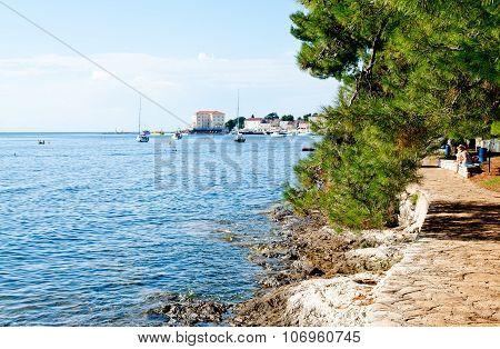 Porec, Istria, Croatia On A Hot Sunny Day