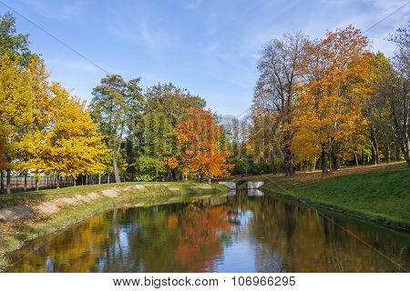 Autumn Reflection In Water
