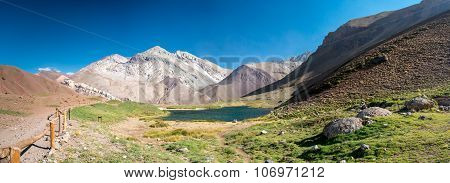 Lake in the near of Aconcagua