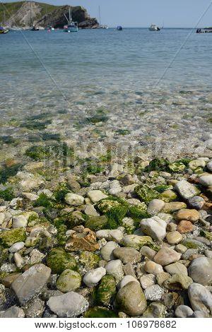 Pebbles in Lulworth cove