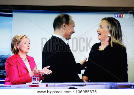 Hilary Clinton On National French Television Channel Tf1