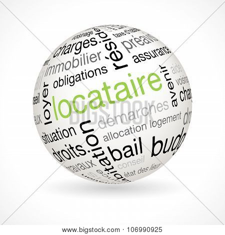 French Tenant Theme Sphere With Keywords