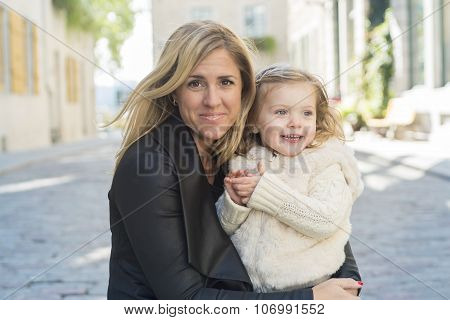 Young mother with her daughter