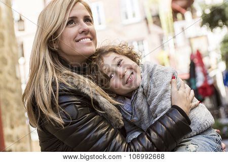 Young mother with her son