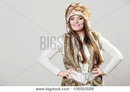 Winter Cute Girl Fashion.