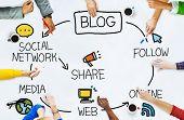 Blog Blogging Comunication Connect Data Social Concept poster