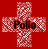 Polio Word Representing Poor Health And Sick poster