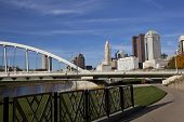 The Scioto Greenway project in columbus, Ohio revitalized the riverbank of the Scioto River poster