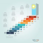 Business success startup Conceptual infographics steps up ladders and doorway template nine positions possible to use for workflow banner diagram web design timeline area chart number options step up options poster