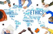 Ethics Ideals Principles Morals Standards Concept poster