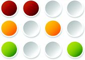 Traffic lights lamps traffic signals. Semaphore icons isolated on white. poster