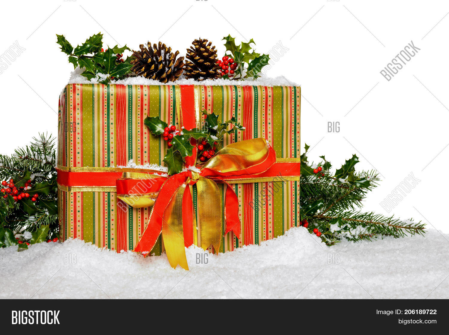 Gift Wrapped Christmas Image Photo Free Trial Bigstock