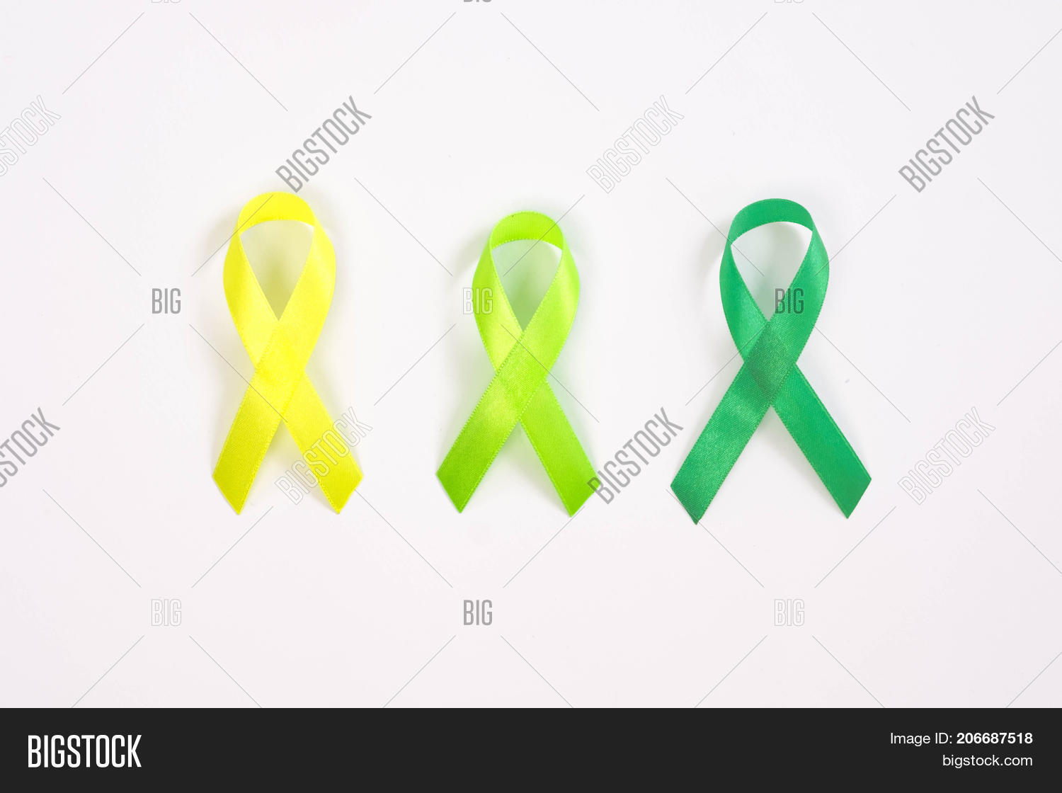 Gradients Green Ribbon Image Photo Free Trial Bigstock