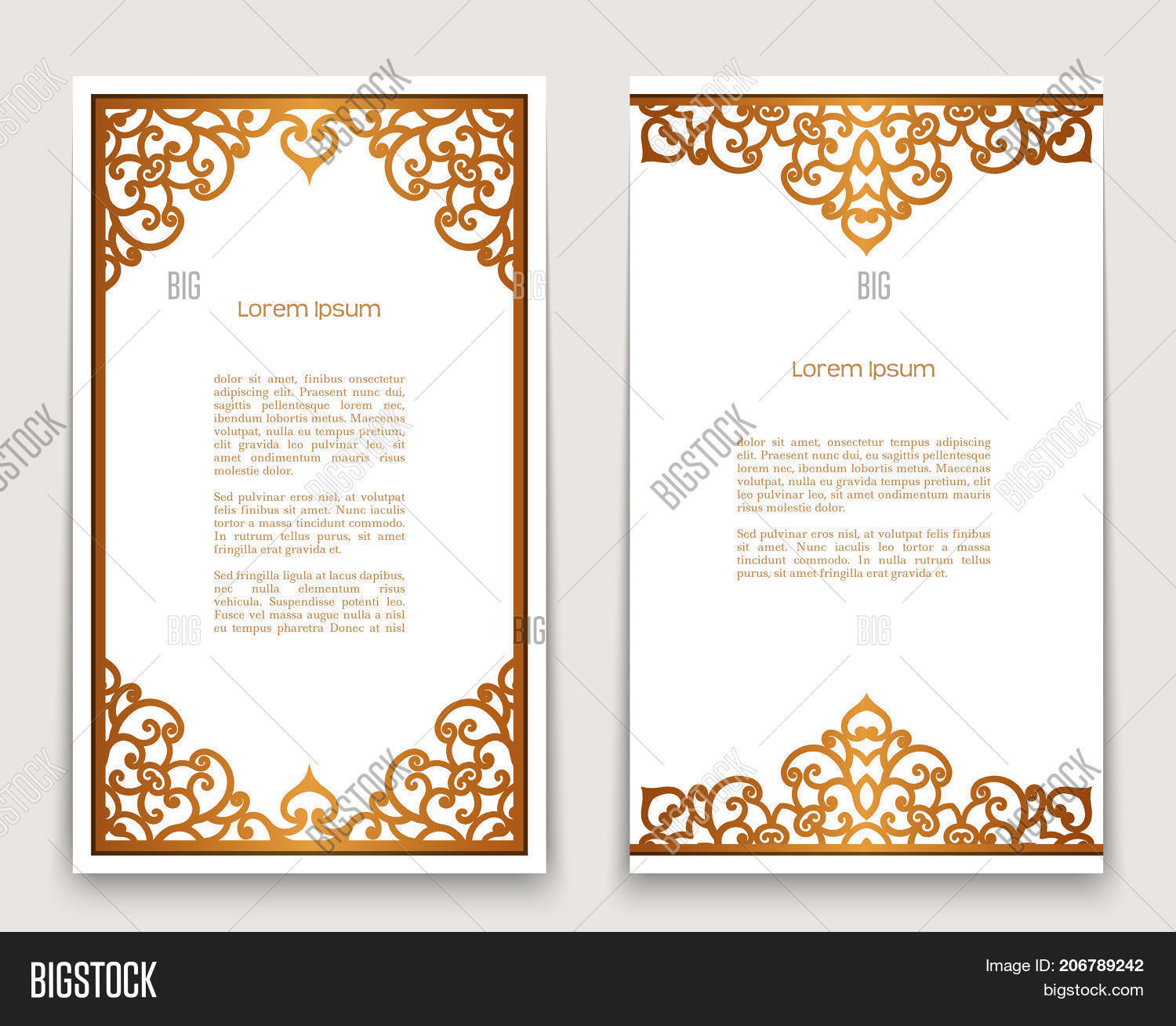 Vintage gold vector photo free trial bigstock vintage gold rectangle frames with ornate borders on white golden scroll embellishment vector decoration stopboris
