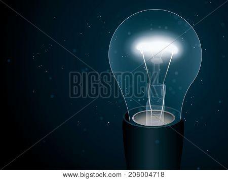 Lightbulb in the darkness