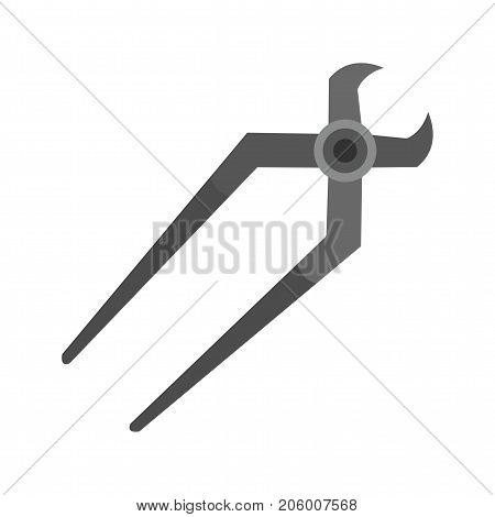 Nippers, tool, work icon vector image. Can also be used for Hand Tools. Suitable for use on web apps, mobile apps and print media.