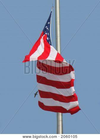 Halfmast Flag On Partorit Day