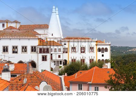 Town Palace Is Located In Sintra, Lisbon District