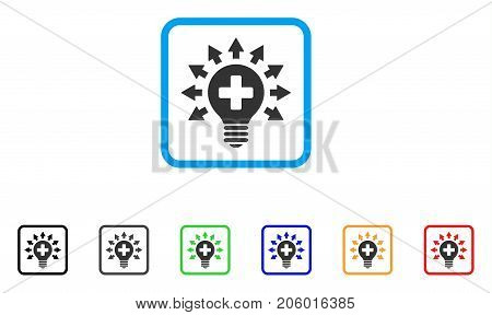 Disinfection Lamp icon. Flat pictogram symbol in a rounded square. Black, gray, green, blue, red, orange color versions of Disinfection Lamp vector. Designed for web and app interfaces.