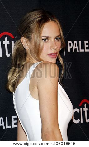 Halston Sage at the 11th Annual PaleyFest Fall TV Previews - Netflix's 'The Orville' held at the Paley Center for Media in Beverly Hills, USA on September 13, 2017.