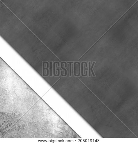Grayscale background with grey silver white paper layers