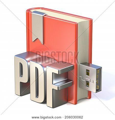 Ebook Icon Metal Pdf Red Book Usb 3D