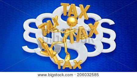 Tax Law Concept With The Original 3D Character Illustration