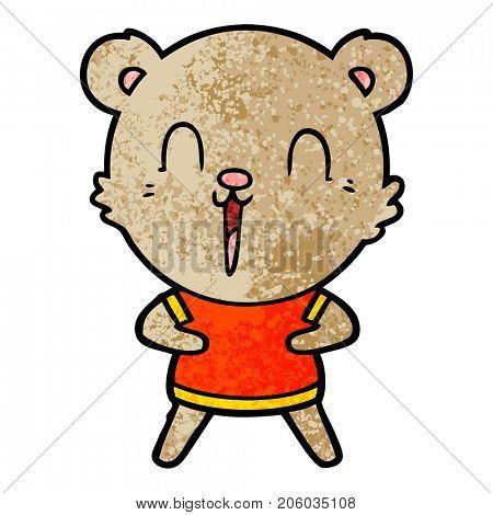 happy cartoon bear