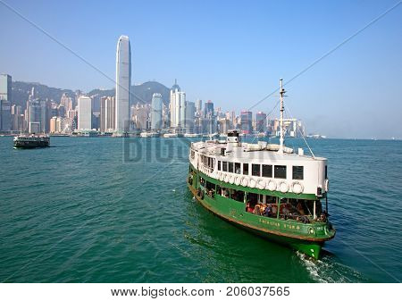 HONG KONG - APRIL 2: Ferry
