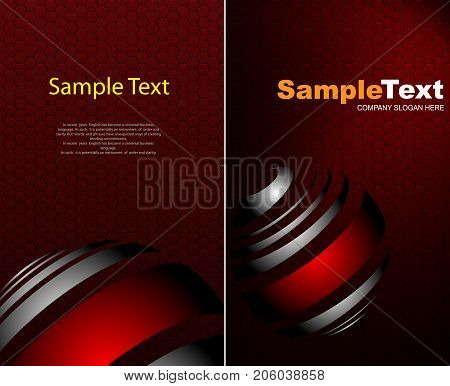 Vector Abstract Background. Business Cards Set.