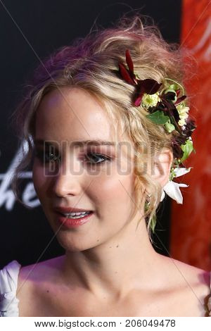 NEW YORK-SEP 13: Actress Jennifer Lawrence attends the
