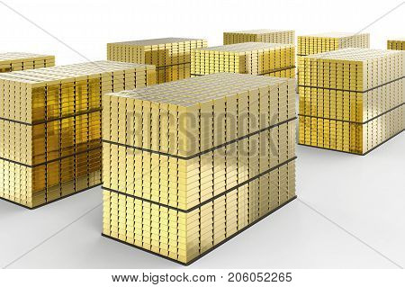 Heap Of Gold Bullion